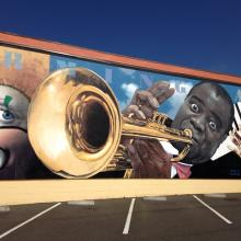 Mural on G and 5th St., Eureka