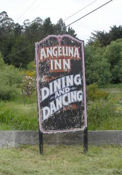 The old sign at Angelina Inn
